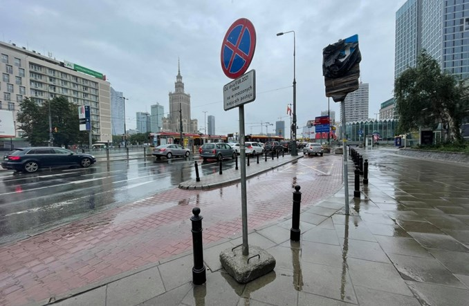Warszawa: Ruszają prace przy pasach w rejonie ronda Dmowskiego