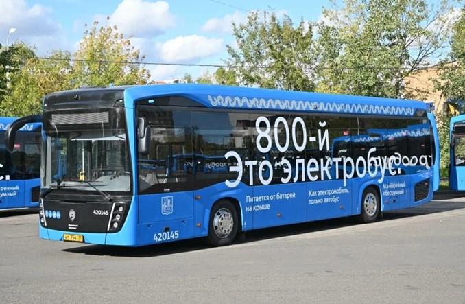 Moskwa ma już 800 elektrobusów. Do końca roku ma być tysiąc