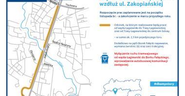 Remont torowiska do Borku Fałęckiego od listopada