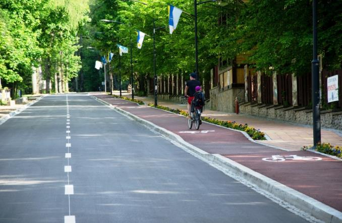 Zakopane postawi na rowerzystów? Pierwsza droga rowerowa już jest