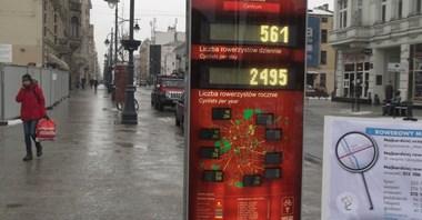 Łódź: Blisko milion przejazdów rowerami przez pół roku