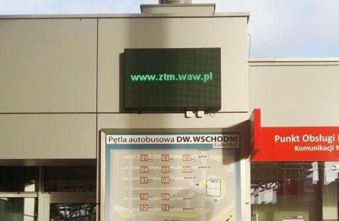 Warszawa: Węzeł z elektroniczną informacją, ale nie o odjazdach