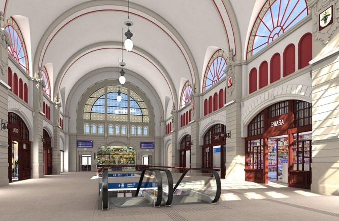 Dworzec Główny w Gdańsku w przebudowie
