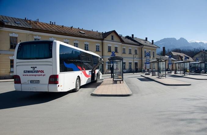 Zakopane Dworzec Autobusowy Przeszedł Przez Ulicę