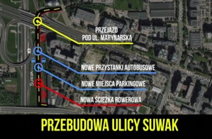 Warszawa. Na Służewcu ulica za szlabanem