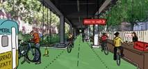 Berlin. Projekt trasy rowerowej pod U–Bahnem