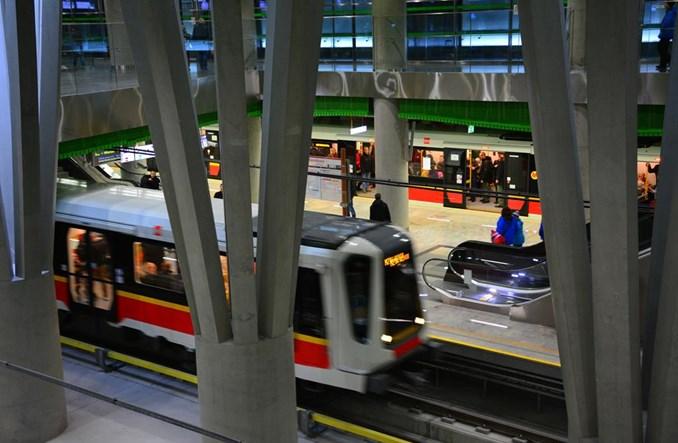 Po otwarciu II linii więcej pasażerów na I linii