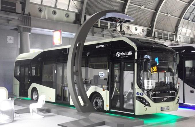 Elektryczna hybryda Volvo 7900 na targach Transexpo