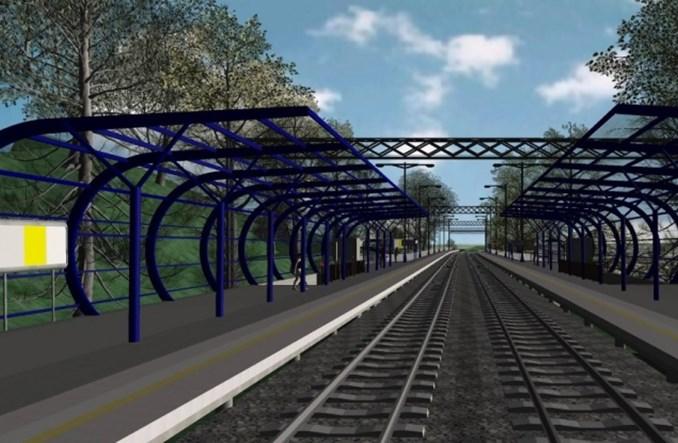 Wałbrzych z nowym przystankiem kolejowym Śródmieście