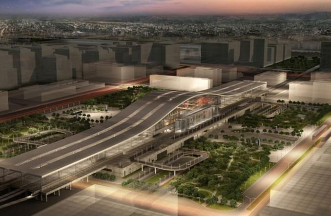 Astana z nowym dworcem kolejowym