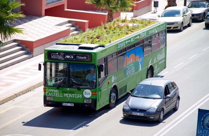 Madryt instaluje ogrody na dachach autobusów i przystanków