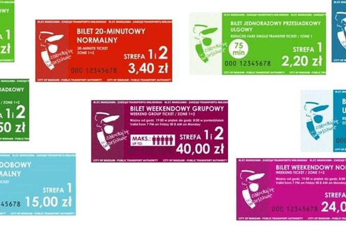 Warszawa: Jak będą wyglądały nowe bilety kartonikowe