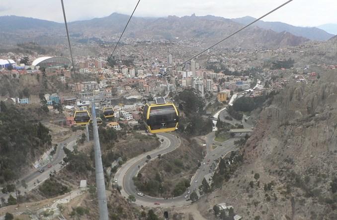 Boliwia. Wiszące metro w La Paz