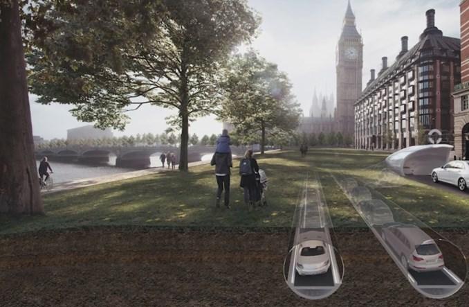 Londyn. CarTube, czyli samochody autonomiczne… w tunelu?