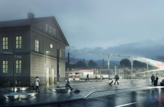 Zobacz wizualizacje dworca w Zakopanem