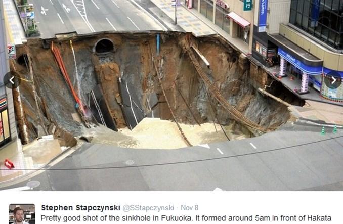 Japonia. Drogowcy załatali 30-metrową dziurę w ulicy… w tydzień