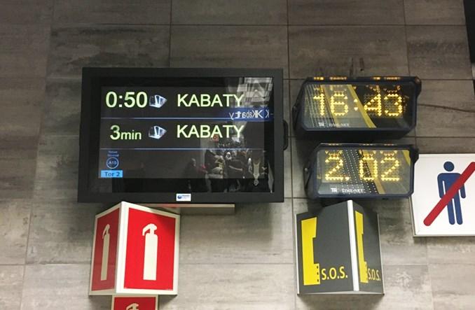 Metro rozbuduje informację pasażerską od Kabat do Wilanowskiej