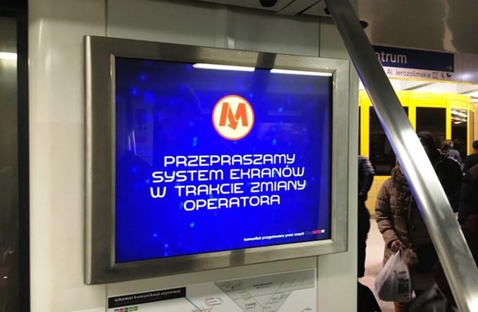 Pociągi metra na razie bez reklam. Nowe treści w ciągu 60 dni