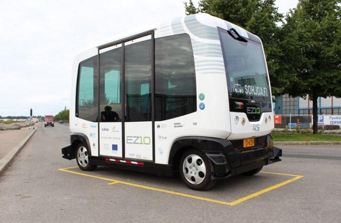 Helsinki. Autobus bez kierowcy rusza na publiczne drogi