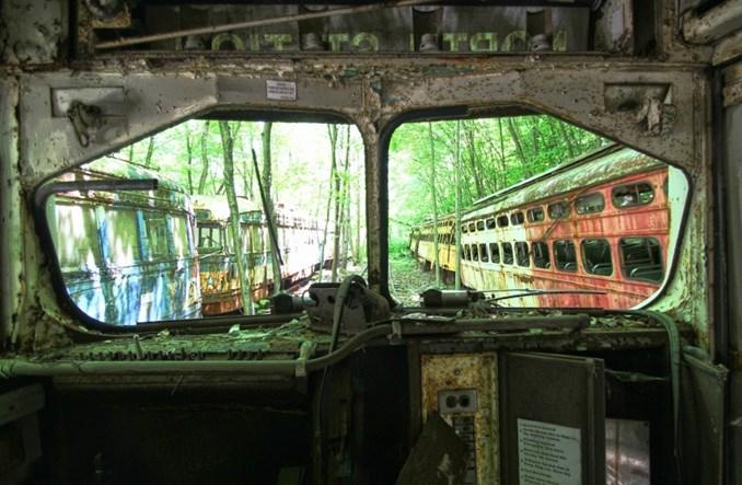 Cmentarzysko tramwajów w USA [zdjęcia]