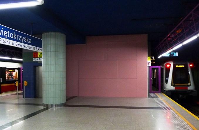Metro:  Przymiarki do rozbiórki ściany między peronem I linii a II linią