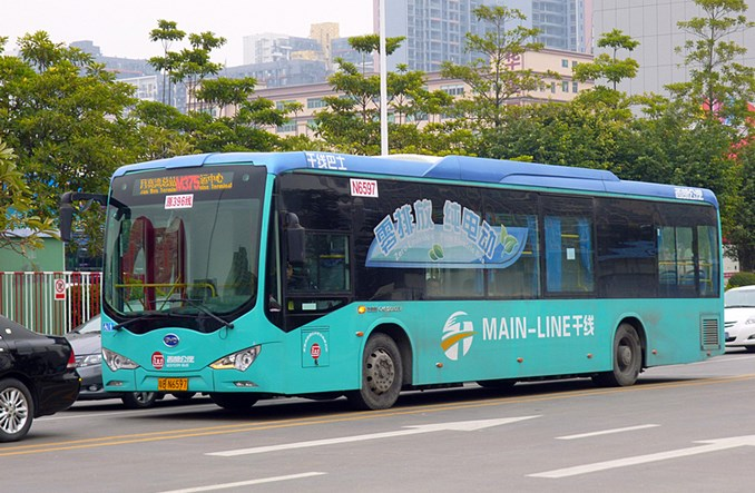 Nankin elektryfikuje flotę autobusową