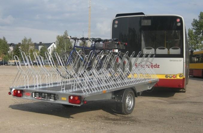 Rowerowe przyczepy autobusowe ponownie w akcji pod Poznaniem