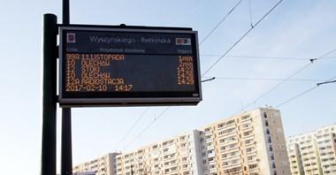 Łódź: Niedostępne kursy na tablicach elektronicznych
