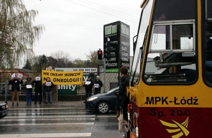 Zgierz: Protest w obronie tramwaju