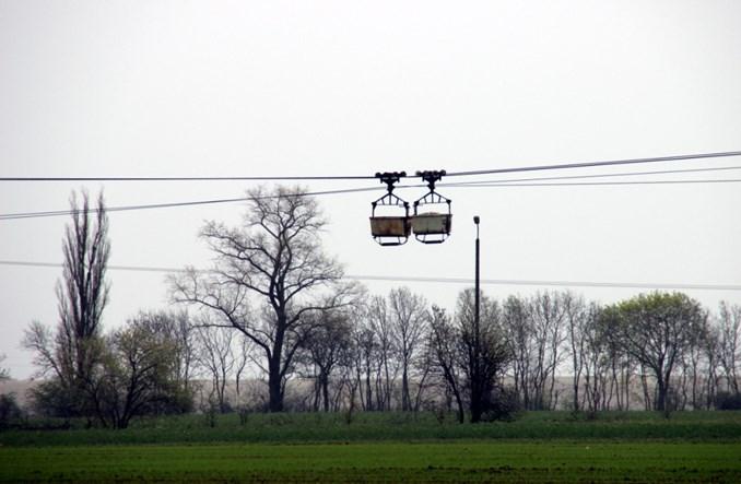 Janikowo: Towarowa kolej linowa na nizinach