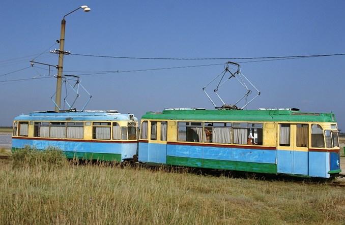 Ukraina: Hotelowy tramwaj na plażę
