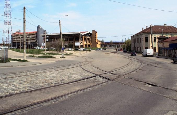 Rumunia. Dworzec w Gałaczu bez tramwajów