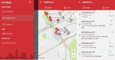 Warszawa. Już działa TramBus, aplikacja lokalizująca autobusy