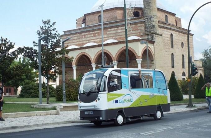 Autonomiczny autobus jeździ po greckiej Trikali