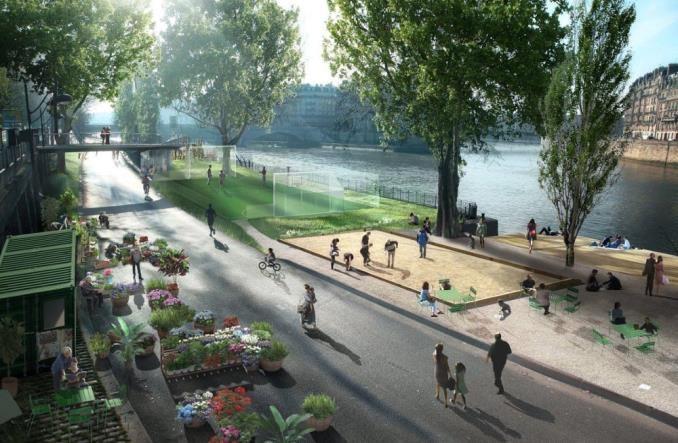 Paryż. Droga wzdłuż prawego brzegu Sekwany jednak dla mieszkańców