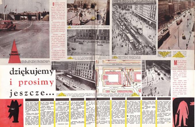 """Warszawa. """"Motor"""" w 1959 r.: Poszerzyć ulice! zwęzić chodniki!"""